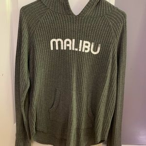 Gray long sleeve MALIBU shirt